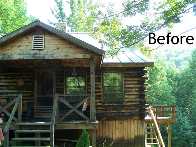 Charmant High Country Restoration | Log Home Blasting, Chinking, Staining And Rotted  Log Replacement