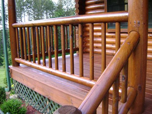 Custom Log Home Railings Decks Carpentry Services And Siding High Country Restoration